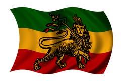 De vlag van Rastafarian royalty-vrije illustratie