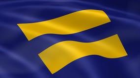 De vlag van rechten van de mens Royalty-vrije Stock Afbeelding