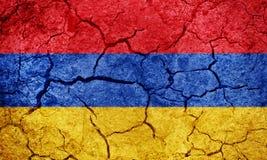 De vlag van Republiek Armenië Stock Afbeeldingen