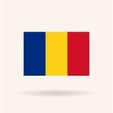 De vlag van Roemenië Stock Afbeeldingen