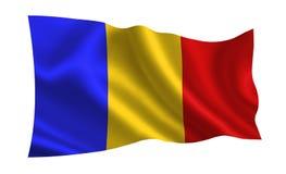 De vlag van Roemenië, a-reeks van `-Vlaggen van de wereld ` Het land - Roemenië Royalty-vrije Stock Afbeelding