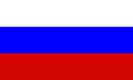 De vlag van Rusland stock illustratie