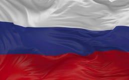 De vlag van Rusland die in de 3d wind golven geeft terug Stock Fotografie