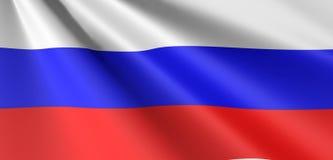 De vlag van Rusland het golven royalty-vrije illustratie