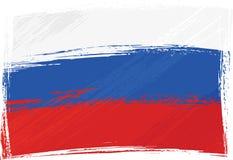 De vlag van Rusland van Grunge royalty-vrije illustratie