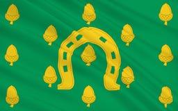 De vlag van Rutland is een geheel door land omgeven provincie, Engeland Royalty-vrije Stock Afbeelding
