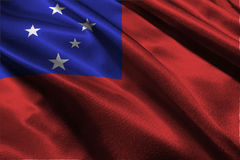 De vlag van Samoa, Onafhankelijke Staat van de vlag 3D illustratie van Samoa Royalty-vrije Stock Afbeeldingen