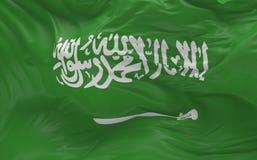 De vlag van Saudi-Arabië die in de 3d wind golven geeft terug Royalty-vrije Stock Fotografie