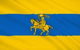 De vlag van Schwerin is de hoofd en second-largest stad van n royalty-vrije stock fotografie