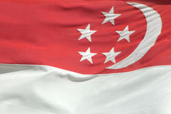 De vlag van Singapore royalty-vrije stock afbeelding