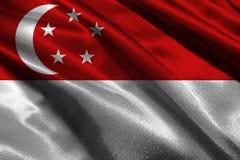 De vlag van Singapore, 3D symbool van de de vlag 3D illustratie van Singapore nationale Royalty-vrije Stock Foto
