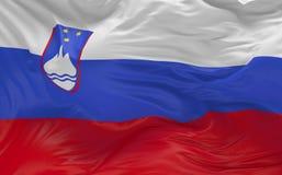 De vlag van Slovenië die in de 3d wind golven geeft terug Royalty-vrije Stock Fotografie