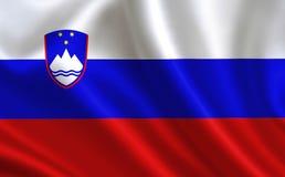 De vlag van Slovenië Een reeks `-Vlaggen van de wereld ` Het land - de vlag van Slovenië Royalty-vrije Stock Foto's