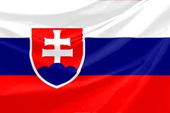 De Vlag van Slowakije Stock Afbeeldingen