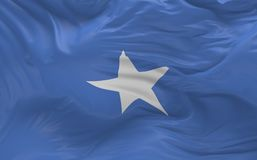 De vlag van Somalië die in de 3d wind golven geeft terug Royalty-vrije Stock Fotografie