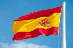 De vlag van Spanje Stock Afbeeldingen