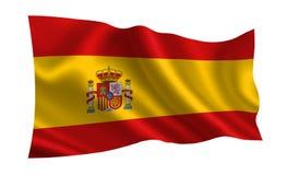 De vlag van Spanje, a-reeks van `-Vlaggen van de wereld ` Het land - de vlag van Spanje royalty-vrije stock foto's