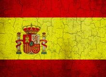 De vlag van Spanje van Grunge Stock Foto's