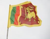 De vlag van Sri Lanka Stock Afbeelding