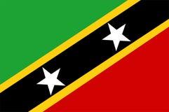 De Vlag van St.Kitts.en.Nevis Stock Foto