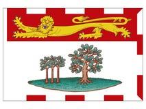 De vlag van de staat van Canada van Prins Edward Island vector illustratie