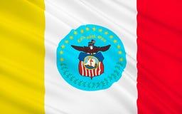 De Vlag van de staat van Columbus - de vijftiende meest dichtbevolkte stad van de V.S., Th royalty-vrije illustratie