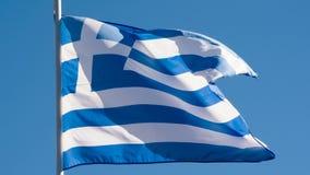 De vlag van de staat van Griekenland stock videobeelden