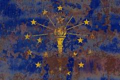 De vlag van de staat van Indiana grunge, de Verenigde Staten van Amerika stock fotografie