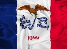 De Vlag van de staat van Iowa Stock Foto
