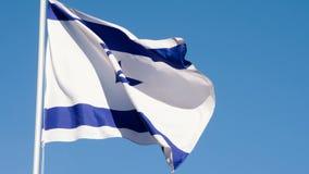 De Vlag van de staat van Isra?l stock videobeelden