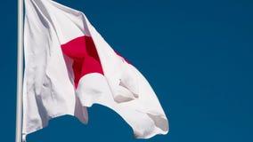 De Vlag van de staat van Japan stock footage