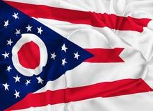 De Vlag van de staat van Ohio vector illustratie