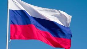 De Vlag van de staat van Rusland stock videobeelden