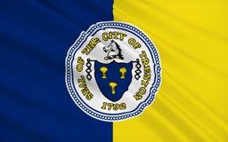 De Vlag van de staat van Trenton - een stad op de oostkust van Verenigd S vector illustratie
