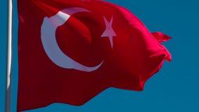 De Vlag van de staat van Turkije stock video