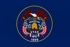 De Vlag van de Staat van Utah stock foto