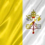 De vlag van de Stad van Vatikaan royalty-vrije stock foto