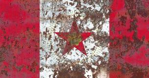 De vlag van de de stadsrook van Birmingham, de Staat van Alabama, Verenigde Staten van Amer Stock Fotografie