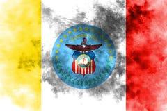De vlag van de de stadsrook van Columbus, de Staat van Ohio, de Verenigde Staten van Amerika royalty-vrije illustratie