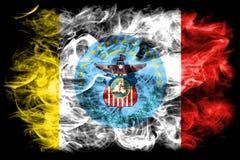 De vlag van de de stadsrook van Columbus, de Staat van Ohio, de Verenigde Staten van Amerika stock illustratie
