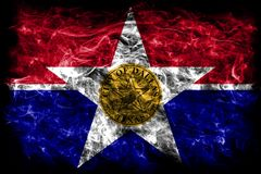 De vlag van de de stadsrook van Dallas, de Staat van Illinois, de Verenigde Staten van Amerika royalty-vrije illustratie