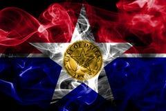 De vlag van de de stadsrook van Dallas, de Staat van Illinois, de Verenigde Staten van Amerika vector illustratie