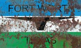 De vlag van de de stadsrook van Fort Worth, Texas State, Verenigde Staten van Americ stock afbeelding