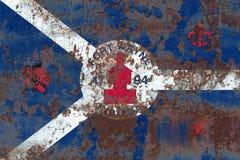 De vlag van de de stadsrook van fortwayne, Indiana State, Verenigde Staten van Amer stock afbeeldingen