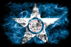 De vlag van de de stadsrook van Houston, Texas State, de Verenigde Staten van Amerika Royalty-vrije Stock Afbeeldingen