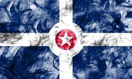De vlag van de de stadsrook van Indianapolis, Indiana State, Verenigde Staten van Am Royalty-vrije Stock Afbeeldingen