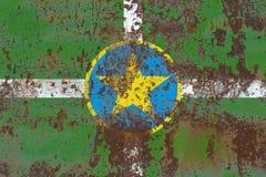 De vlag van de de stadsrook van Jackson, de Staat van de Mississippi, Verenigde Staten van Ame stock fotografie