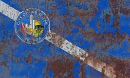 De vlag van de de stadsrook van Las Vegas, Nevada State, Verenigde Staten van Americ Stock Afbeeldingen
