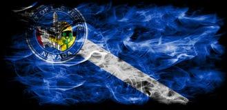 De vlag van de de stadsrook van Las Vegas, Nevada State, Verenigde Staten van Americ Stock Fotografie