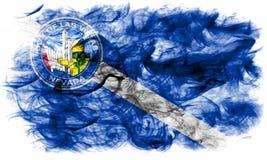 De vlag van de de stadsrook van Las Vegas, Nevada State, Verenigde Staten van Americ Royalty-vrije Stock Afbeelding